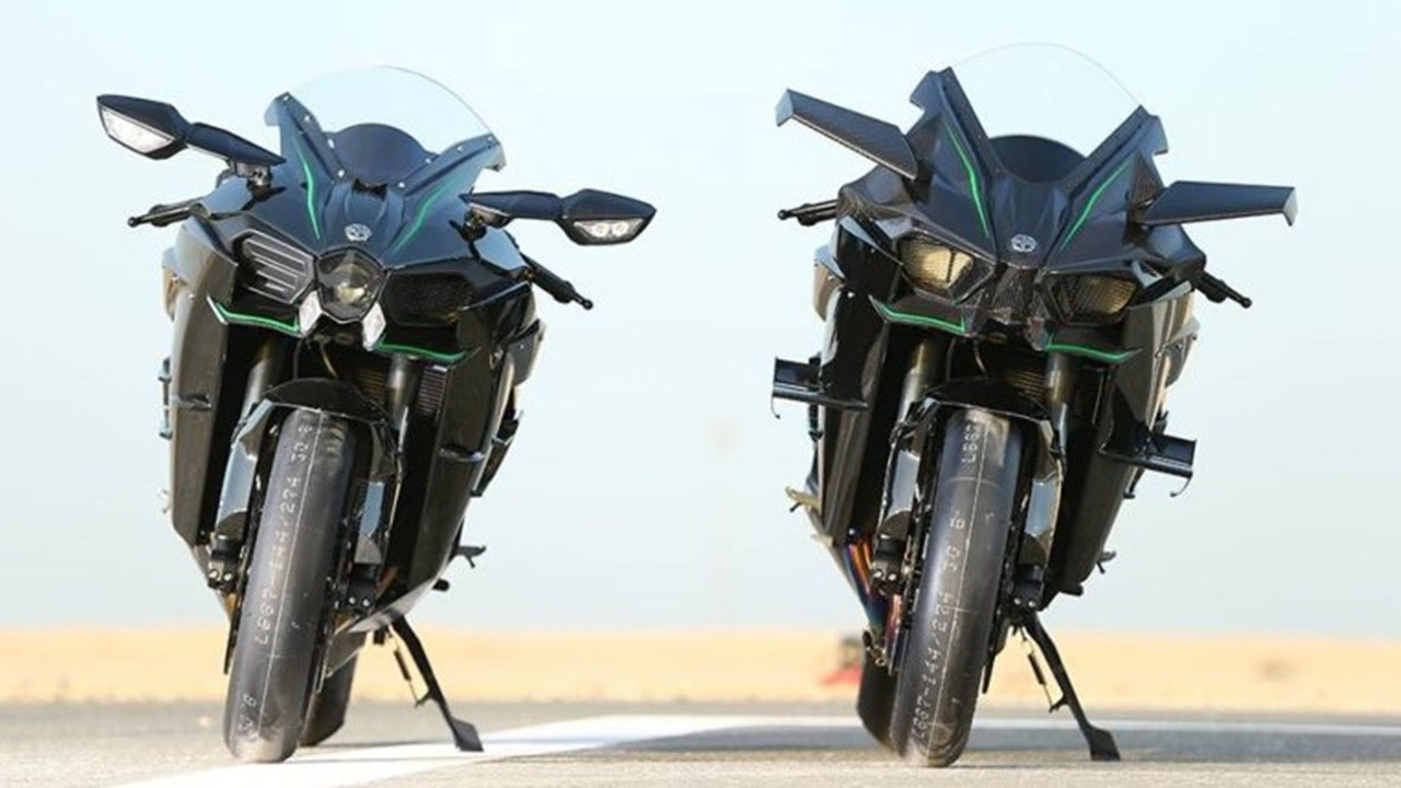 Kawasaki H2 Vs Kawasaki H2r Acceleration 0 400 Kmh Exhaust Sound