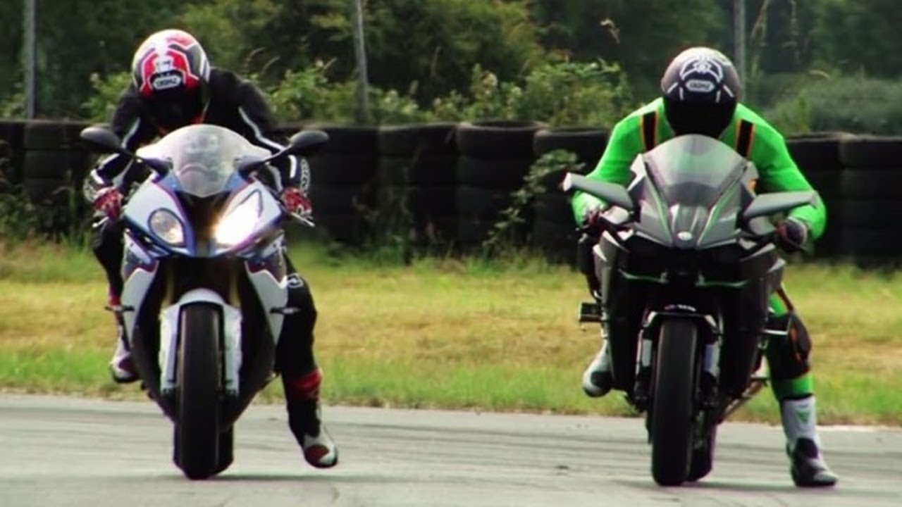 Kawasaki Ninja H2r Vs Bmw S1000rr 0 400 Km H And Exhaust Sound