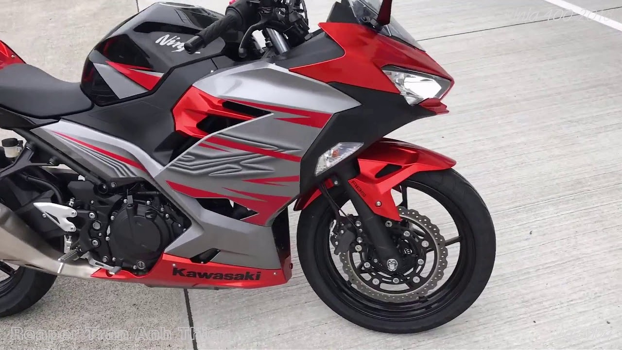 Kawasaki Ninja 400 2018 Red Silver Color Standard Exhaust Sound